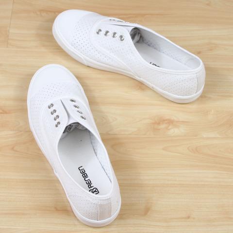 夏款人本镂空透气帆布鞋女鞋低帮系带平底学生休闲板鞋小白鞋8757