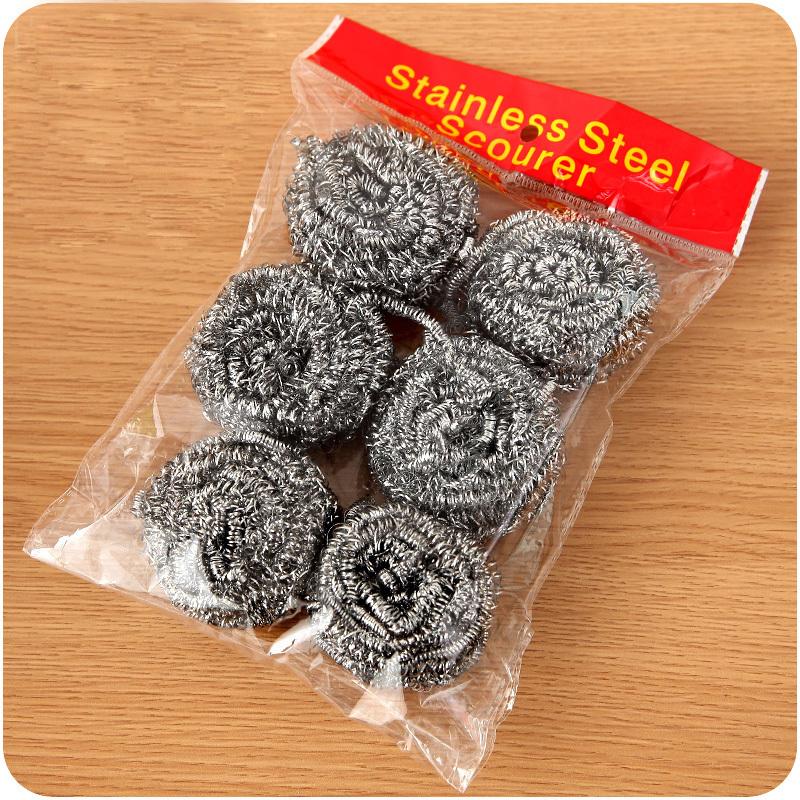钢丝球不锈钢清洁球厨房清洁用品洗碗洗锅刷子铁丝球不掉屑不伤手