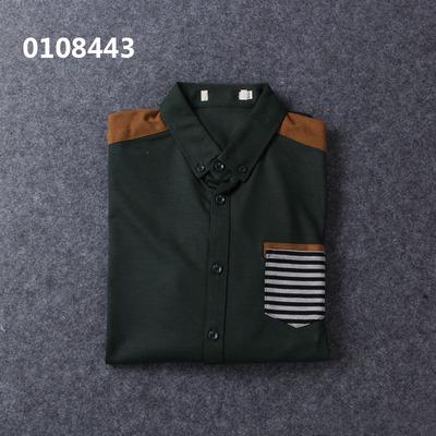 Haiyi tủ cắt tiêu chuẩn của nam giới 2018 mới đa màu áo sơ mi dài tay áo sơ mi cổ tàu nam Áo
