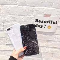 ins冷淡风大理石 苹果6手机壳iPhone8/7plus/6s创意个性男女款