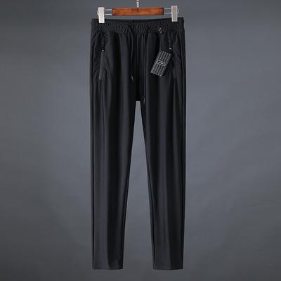 Mỏng! Mỏng! Mỏng! Nhập khẩu rỗng breathable mượt vải 18 mùa hè mỏng chân quần quần tây giản dị nam
