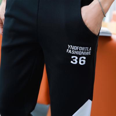 Mùa xuân sinh viên phần mỏng dài tay áo len quần một bộ thanh niên mùa hè áo mùa xuân thể thao quần áo người đàn ông