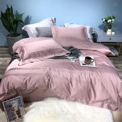 简约纯色60支长绒棉贡缎全棉四件套纯棉被单1.8米2.0m床上用品