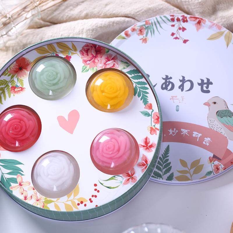 日式樱花果冻布丁礼盒,网红节日礼物礼盒送礼