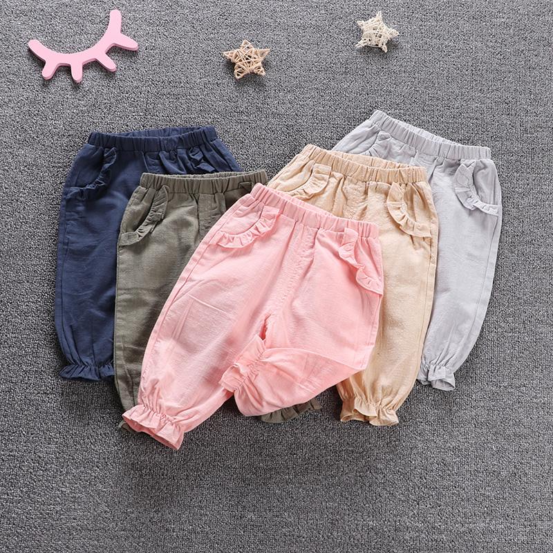 Elf cô gái mặc mới mùa xuân nở quần bé muỗi quần mùa hè quần mỏng có thể được mở ra quần bé