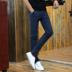 Mới bông và vải lanh quần âu nam giới mỏng thẳng người đàn ông chân căng quần chàng trai thanh niên mùa hè quần mỏng quần áo của nam giới