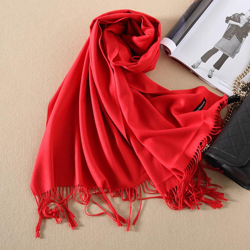 羊绒围巾女秋冬季学生加厚保暖针织韩版长款披肩毛线围脖羊毛百搭