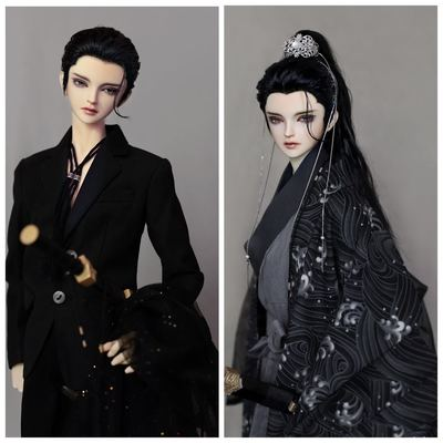 taobao agent Uncle Luo's bjd hand modified hair wig 3 points Uncle modern style antique beauty tip air back back back back back