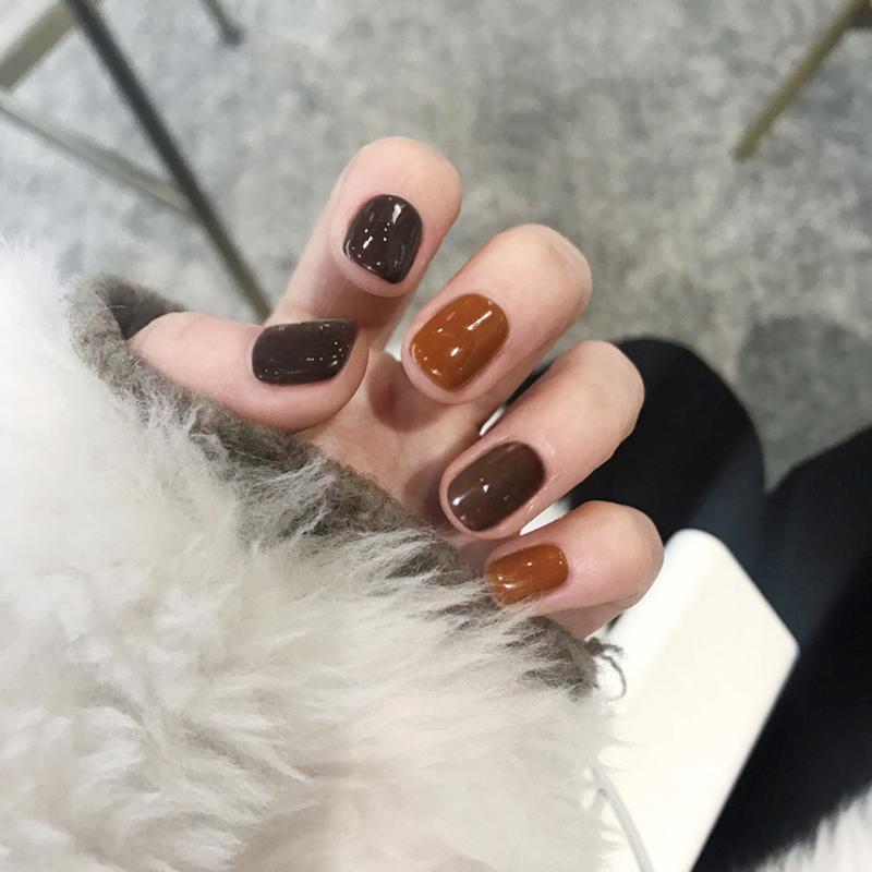 美甲贴成品韩国可取可带软妹少女简约假指甲贴片随意摘戴的手甲片
