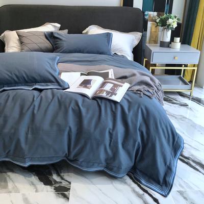 高端80支长绒棉磨毛四件套纯棉北欧风全棉欧美式纯色秋冬床上用品
