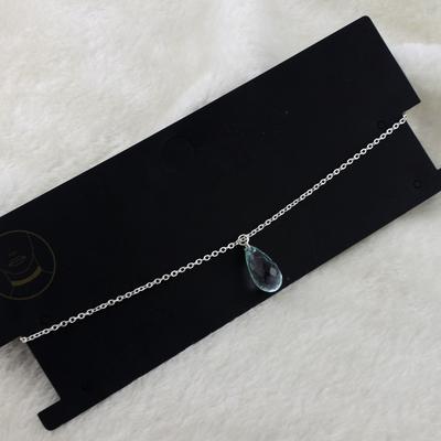 新款金属卡脖脖子链Choker颈带统统水滴吊坠项链手作装饰品66