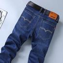 夏季薄款牛仔裤男士商务休闲裤弹力修身