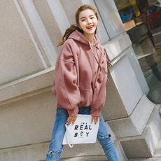 2019春季新款韩版宽松卫衣加绒外套 8619-A101-P70 大货已出