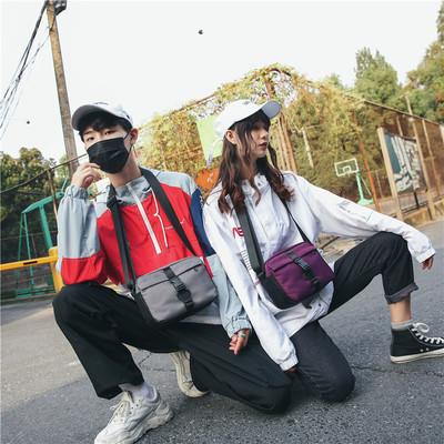 嘻哈潮牌斜挎包男个性时尚土酷包蹦迪包女单肩小包 ins超火包