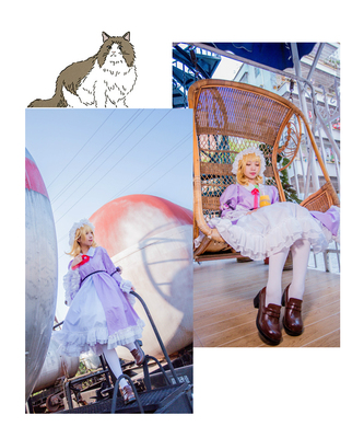 taobao agent 【March 8th Alliance】Touhou project Meili cos fold hell secret seal group cosplay