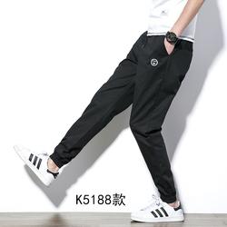 冬季休闲裤子男韩版哈伦裤运动束脚裤男加绒大码纯棉修身小脚长裤