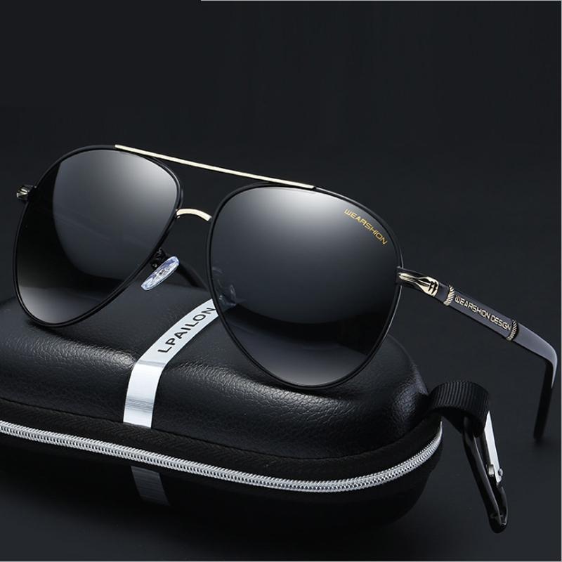 偏光太阳镜男司机镜开车墨镜男士潮人驾驶眼镜圆脸个性眼睛蛤蟆镜
