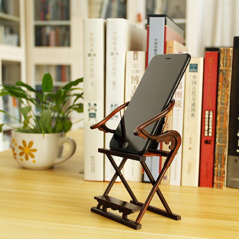 办公走心商务礼品,红木可爱摆件交椅