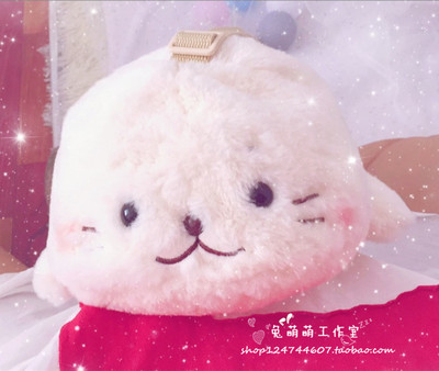 taobao agent Little seal bag cartoon plush toy girl shoulder bag cute small animal leisure messenger small backpack student