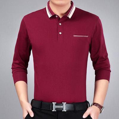 Mùa hè mỏng nam dài tay T-Shirt nam trung niên kinh doanh áo sơ mi giản dị daddy nạp bông XL từ bi áo oversize nam Áo phông dài