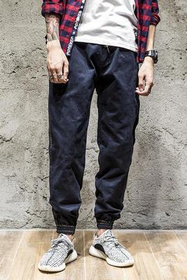 ZXXG mở dòng retro yếm nam thanh niên xu hướng mùa thu thường chân quần Yu Wenle hoang dã chùm quần