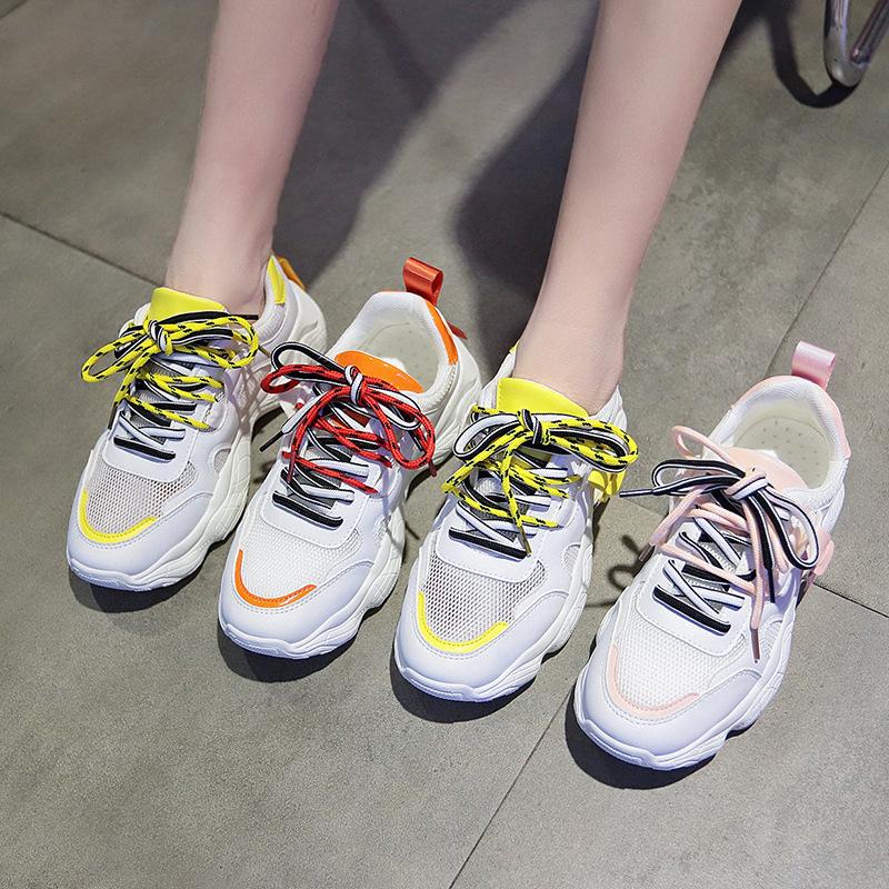 女韩版ins内增高反光鞋百搭街拍运动鞋