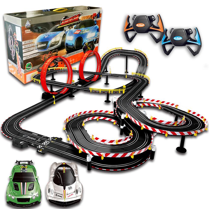 轨道赛车玩具电动遥控玩具,送孩子亲子礼物