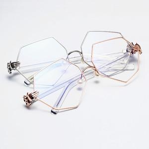 Không thường xuyên bát giác kính sức mạnh quyền lực cùng một đoạn ngọc trai mũi khung đa giác kính khung kim cương ánh sáng phẳng kính nữ