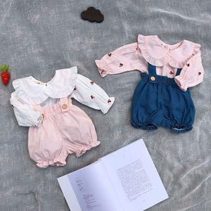 春装女童衬衫纯棉女宝宝翻领衬衣婴儿上衣