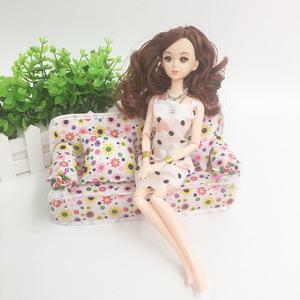 Đồ chơi búp bê sofa phụ kiện nội thất ren miếng bọt biển sofa cô gái chơi nhà món quà đồ chơi