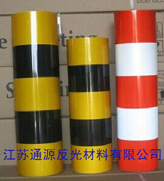 40/80cm black yellow red white reflective film warning pile reflective stickers poles reflective strip traffic anti-building pillars