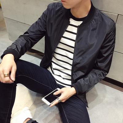 Đặc biệt hàng ngày áo khoác nam mùa thu thường Slim nam áo khoác thanh niên Hàn Quốc phiên bản của xu hướng màu rắn đồng phục bóng chày nam