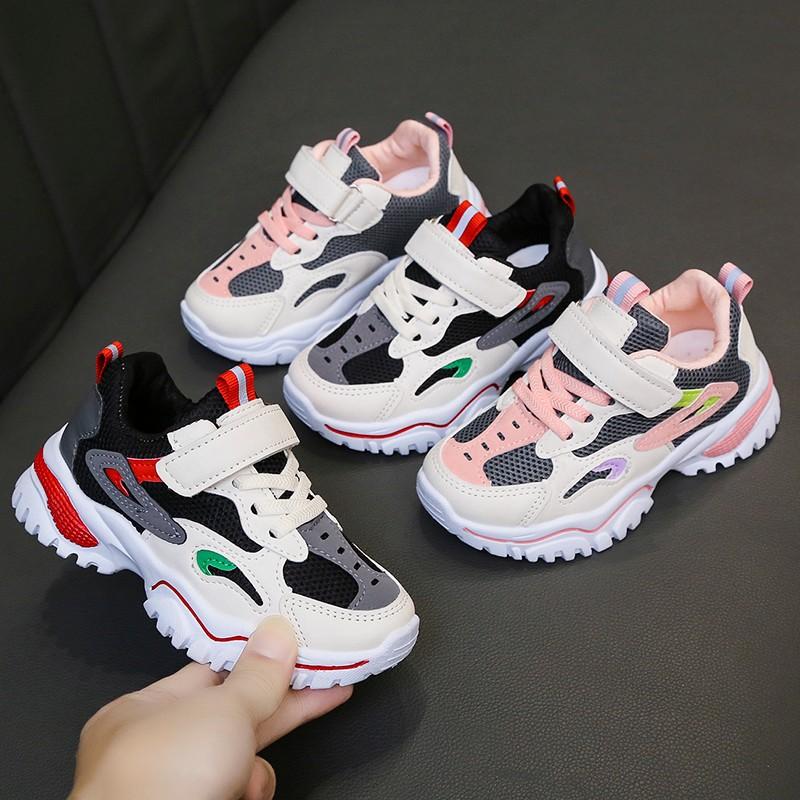 韩版男女儿童时尚潮鞋透气运动鞋