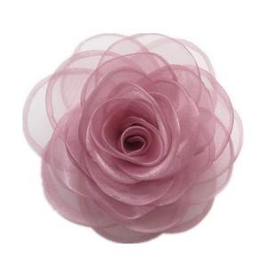 蕾丝绢纱新款植物花卉红色纱玫瑰手工花朵胸花头花布艺胸针女俩用