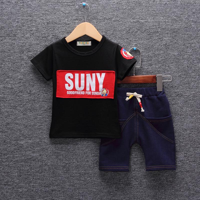 童装男童夏装短袖套装小孩衣服新款宝宝1-5周岁儿童夏季两件套94