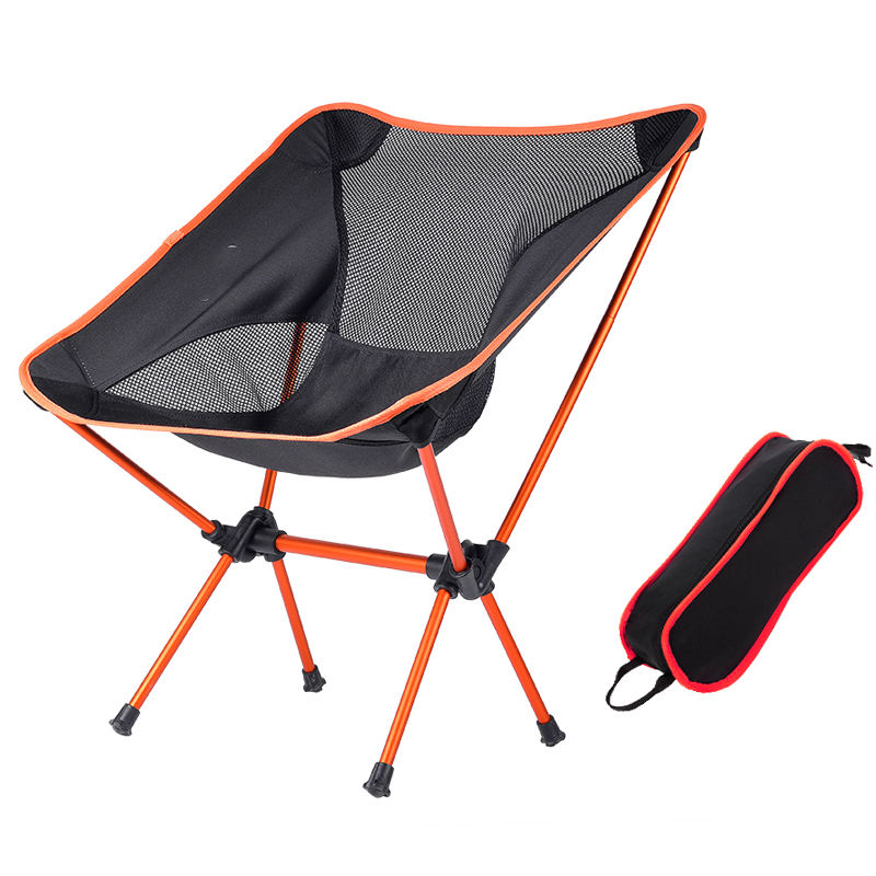Outdoor Storage Portable Folding Chair Mini Backrest Fishing Moon Chair Director Sketch Backpack Folding Chair Beach Chairs Outdoor Furniture