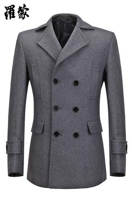 Người đàn ông giản dị của người đàn ông thời trang áo len lông cừu đôi ngực áo len Áo len