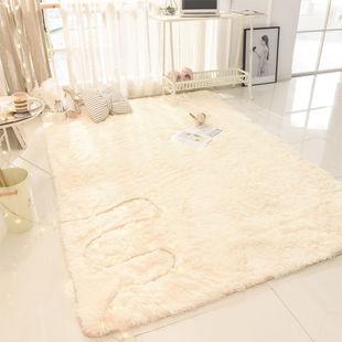 北歐ins房間牀邊毯仿兔毛絨飄窗客廳地毯