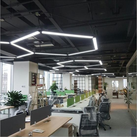 拼接T5办公室吊线灯单管双管办公室会议室灯具LED吸顶造型长条灯