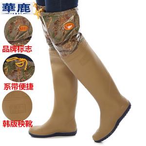 Ren cao ống cắm giày nam giới và phụ nữ trên đầu gối mưa khởi động không thấm nước giày khởi động nước quần nước lĩnh vực vớ châu chấu đáy mềm cắm khởi động