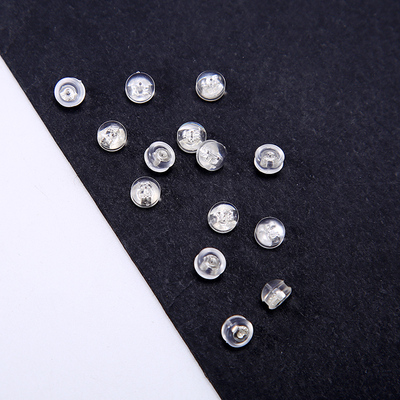 一对装 925纯银耳堵塑胶半圆耳钉塞耳帽耳托耳扣DIY耐用配件男女