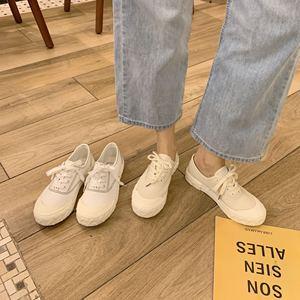 實拍 實價 帆布鞋學生港風ulzzang復古網紅款