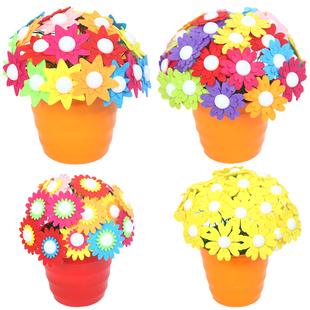 【創意禮物】幼兒園手工DIY紐扣花