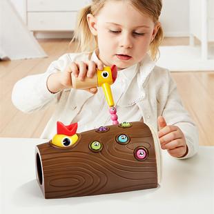 Деревянная птица клевать Ловить ошибки игра ребенок интерес Ловить ошибки игрушка Монтессори головоломка обучения в раннем возрасте познавательный Учебные пособия 2-4 года