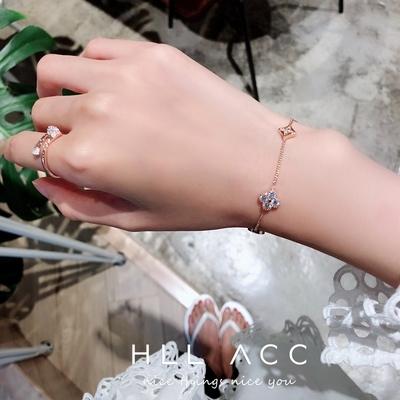 韩国东大门代购小清新细手链女简约闺蜜个性小桃心转运桃花手饰品