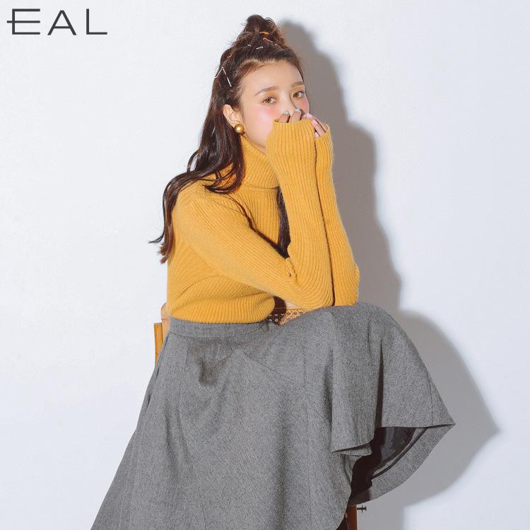 EAL新品2017韩版冬季紧身高领打底衫 学生显瘦针织衫长袖毛衣女