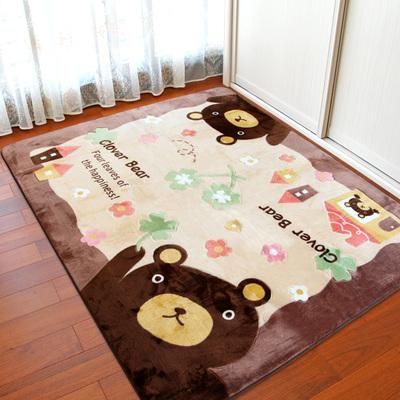 卡通地垫客厅茶几床前床边儿童房间满铺可爱家用爬行垫子地毯卧室