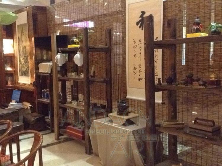 cortina di bambù canne di paglia su misura di roller alla porta