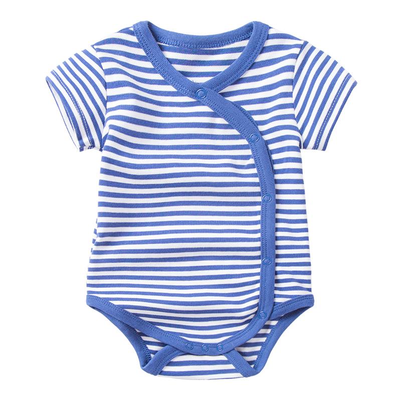 婴儿包屁衣夏装男0-3个6月宝宝纯棉薄款三角哈衣女新生儿衣服夏季