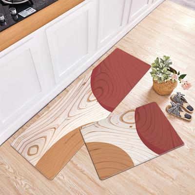 仿木纹厨房地垫防滑防油家用可擦洗PVC皮革防水免洗长条脚垫耐脏